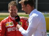Button 'shocked' Vettel is leaving Ferrari